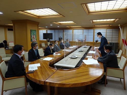 県知事への大雪災害対策要望(R3.1.15 県庁)
